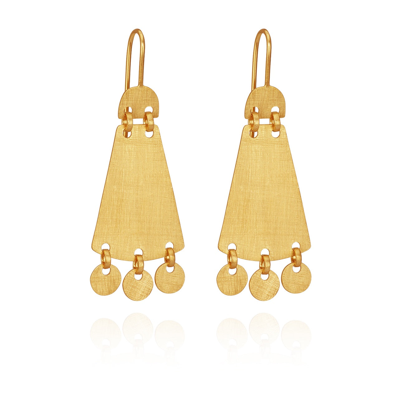 Cybelle Earrings Gold - The Artisan Storeroom