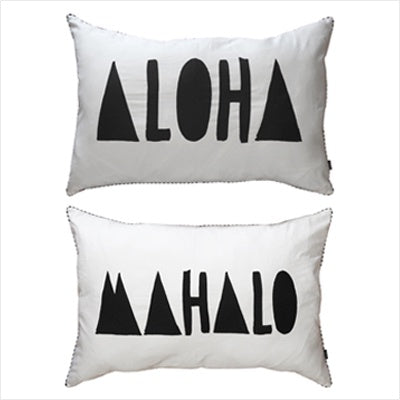 Ourlieu Aloha/Mahalo Pillowslips - The Artisan Storeroom