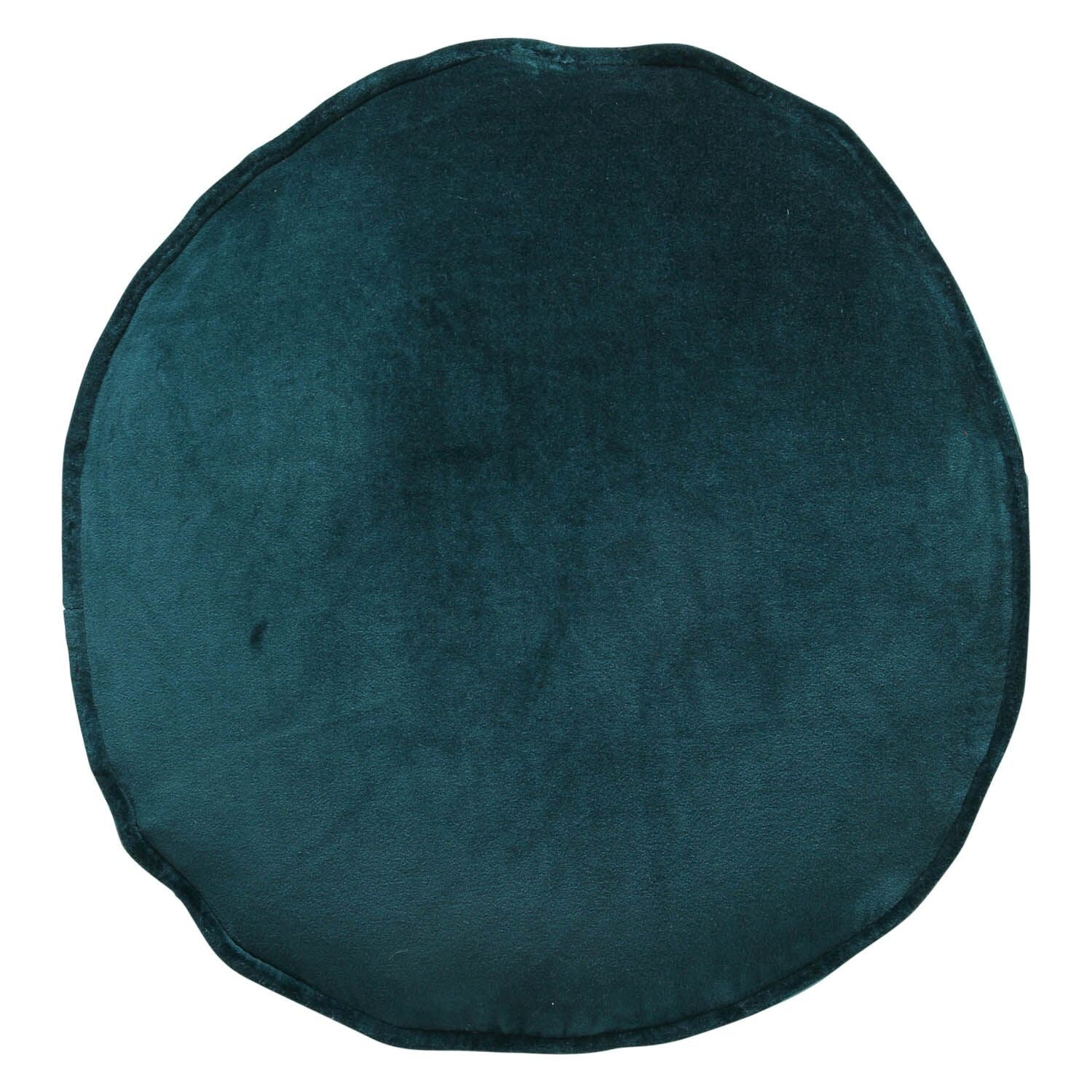 Kip & Co Alpine Green Velvet Pea Cushion - The Artisan Storeroom
