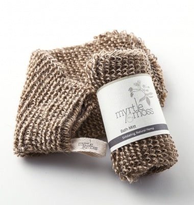 Myrtle and Moss Hemp Bath Mitt