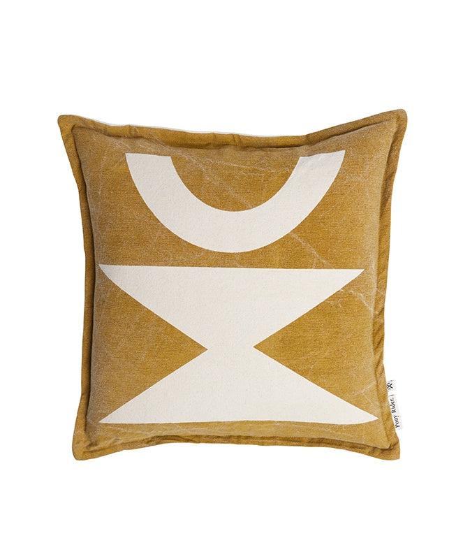 Pony Rider Woman Cushion Golden Tan/Oats 45cm x 45cm - The Artisan Storeroom
