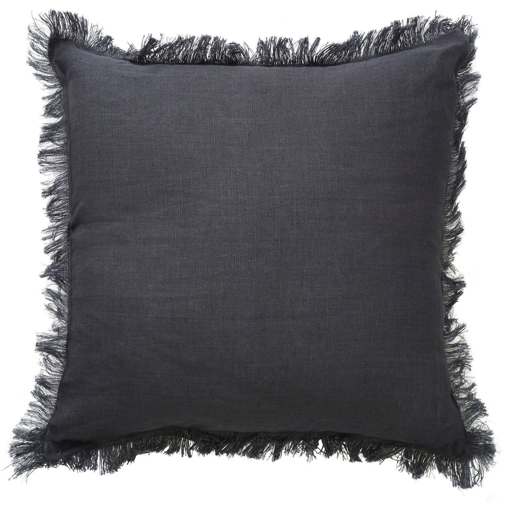 Canvas and Sasson Fringe Cushion - The Artisan Storeroom