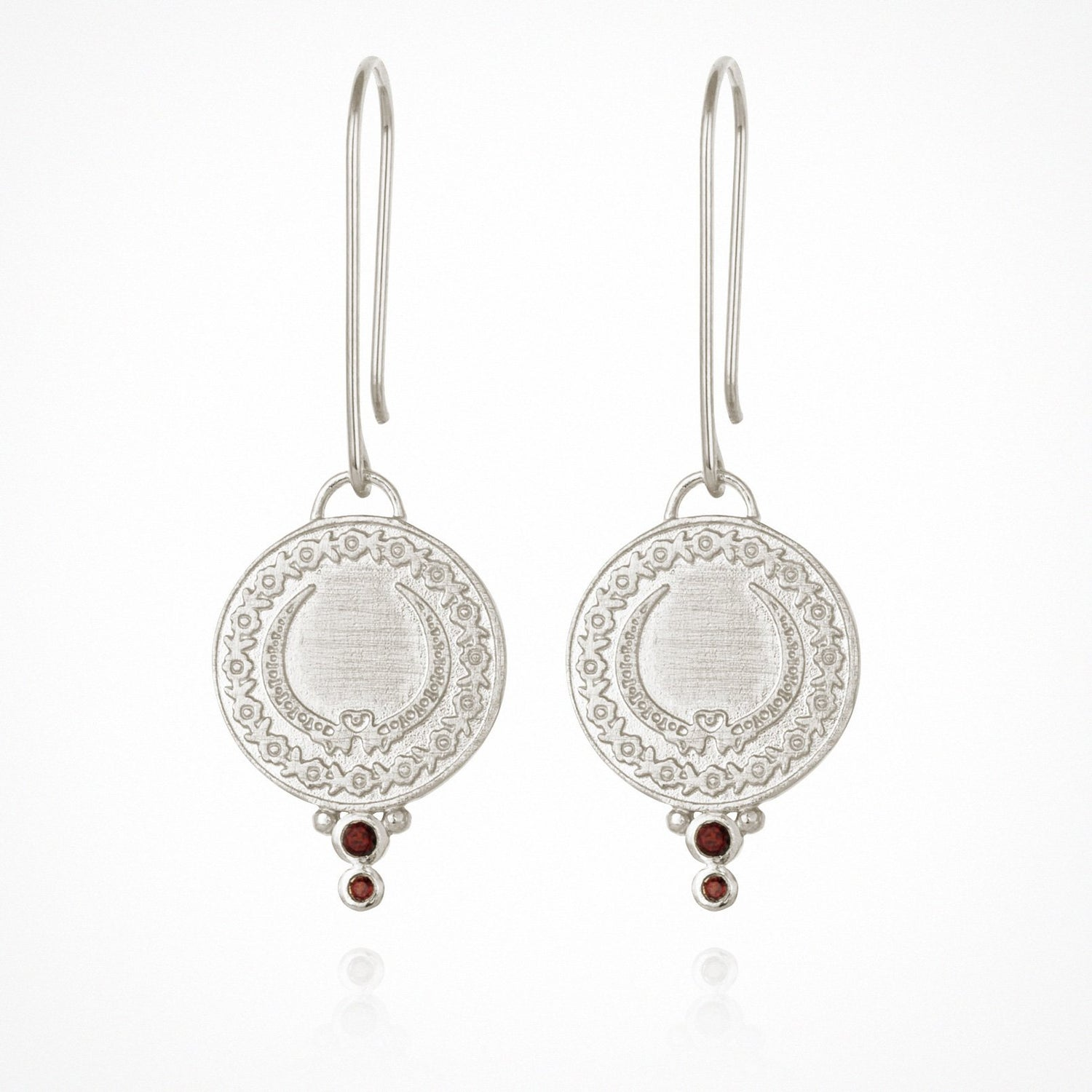 Temple of the Sun Ariana Earrings Silver - The Artisan Storeroom