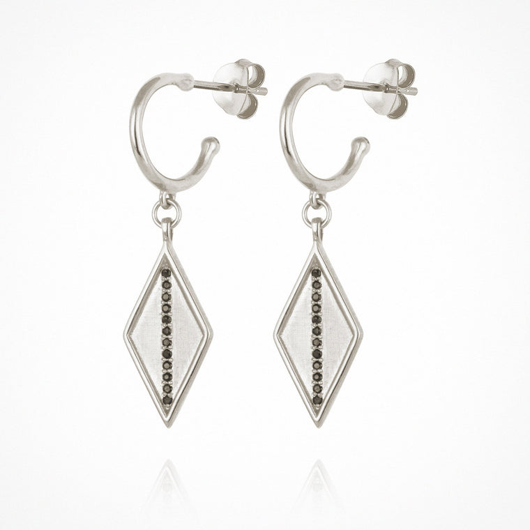 Temple of the Sun Trinity Sapphire Earrings Silver