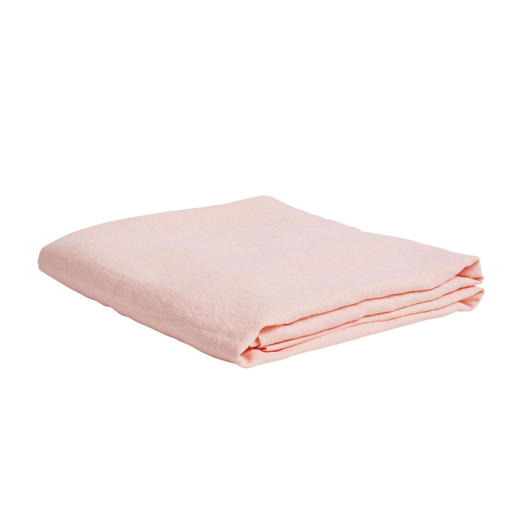 Linen Fitted Sheet Blush Queen