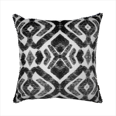 Ourlieu Tropic Tribe Cushion- black - The Artisan Storeroom