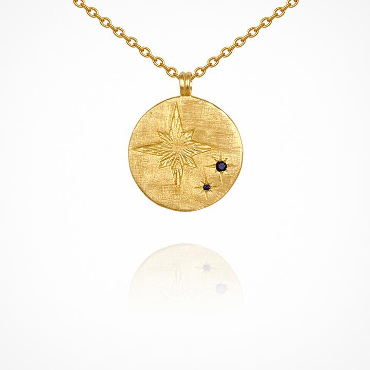 Temple of the Sun Celina Necklace Gold - The Artisan Storeroom