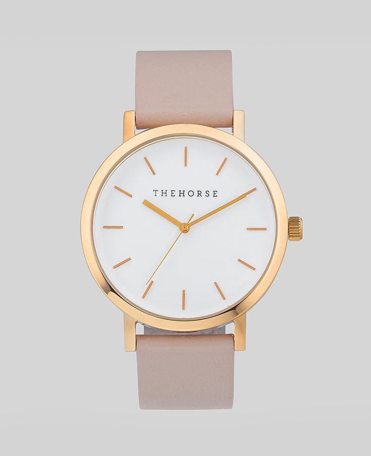 Original Watch A14- Polished Rose Gold Case / White Dial / Blush Band