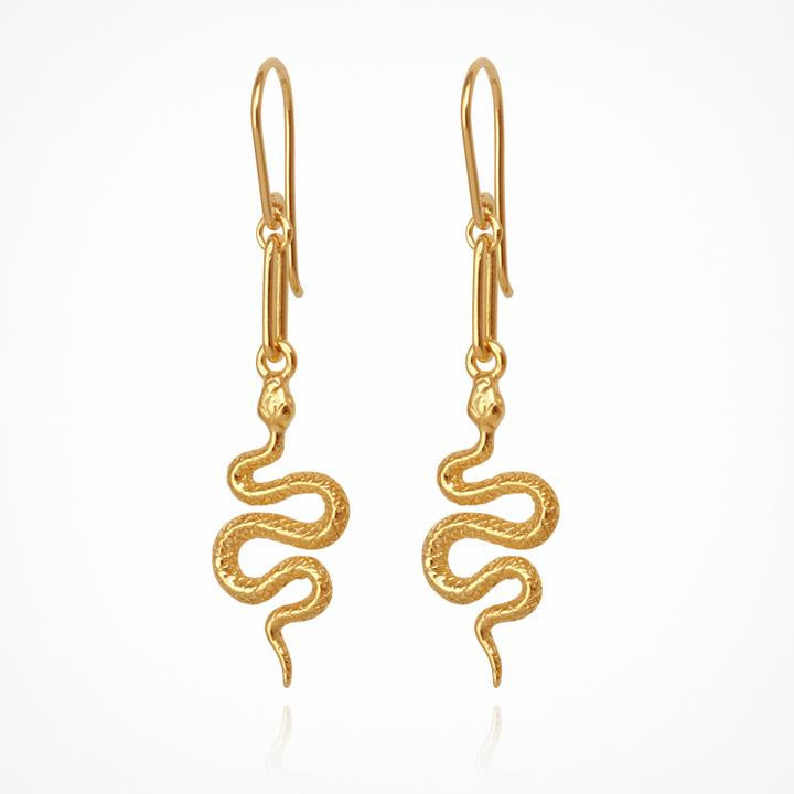 Temple of the Sun Camila Earrings Gold - The Artisan Storeroom