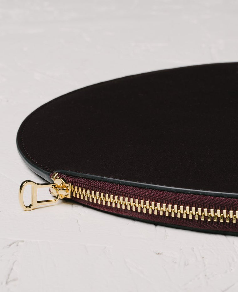 The Horse Moon Clutch in Plum