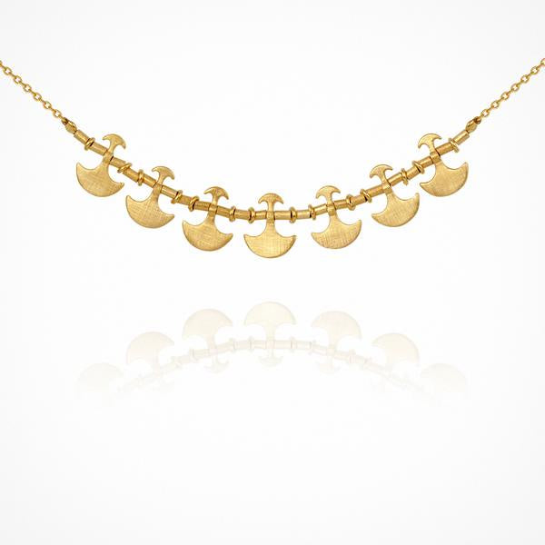 Temple of the Sun Theleka Necklace Gold - The Artisan Storeroom