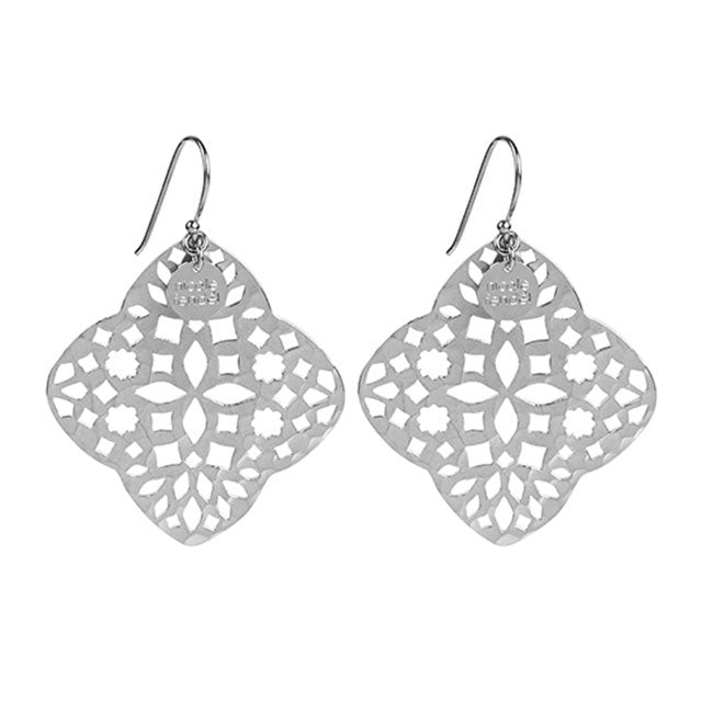 Nicole Fendel Dusk Golden Earrings Silver