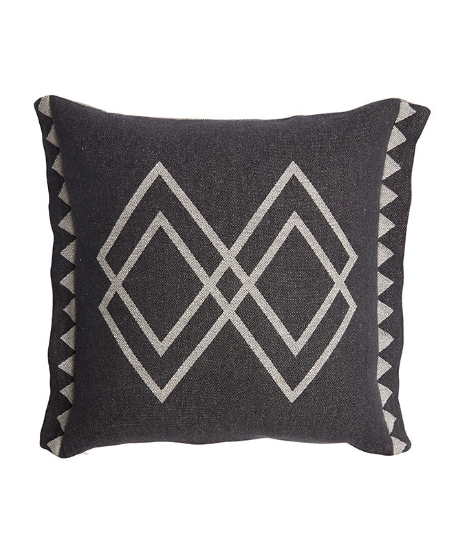 Pony Rider Dawn Ranger Cushion Oats/Black - The Artisan Storeroom