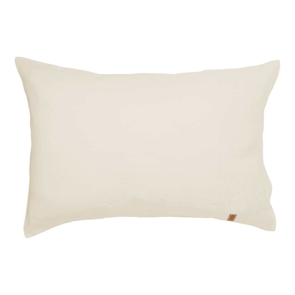 Kip & Co Coconut Linen Pillowcase 2P Set - The Artisan Storeroom