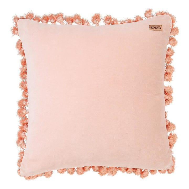 Kip & Co Peach Skin Velvet Tassel Cushion Cover