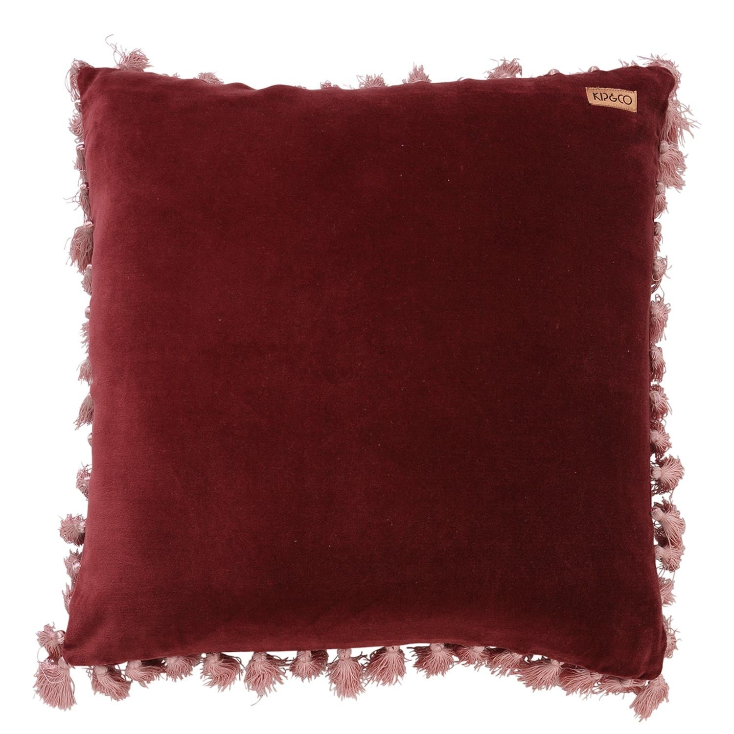 Kip & Co Velvet Tassel Cushion Cover Pomegranate - The Artisan Storeroom