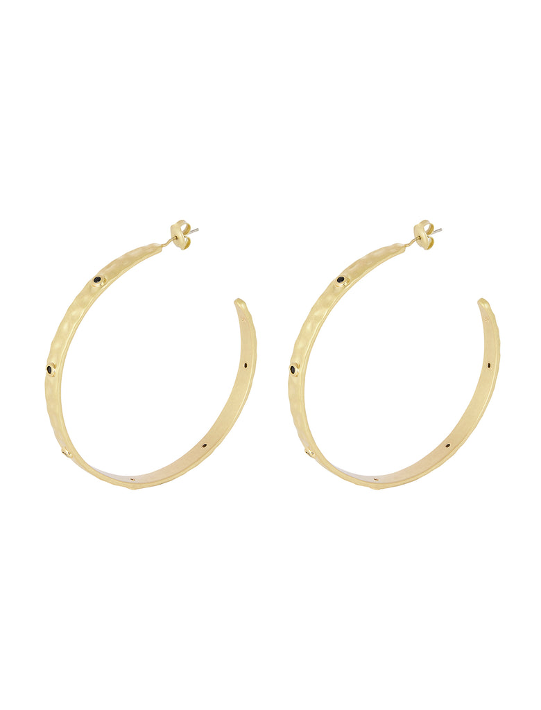 Nicole Fendel Carrie Stone Hoop Earrings - The Artisan Storeroom