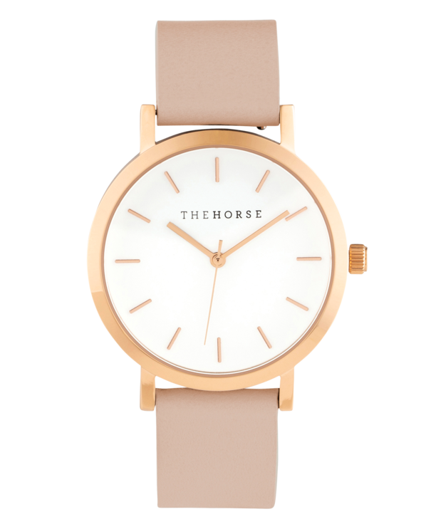 The Horse Mini Original MA14- Rose Gold Case / Blush Leather - The Artisan Storeroom