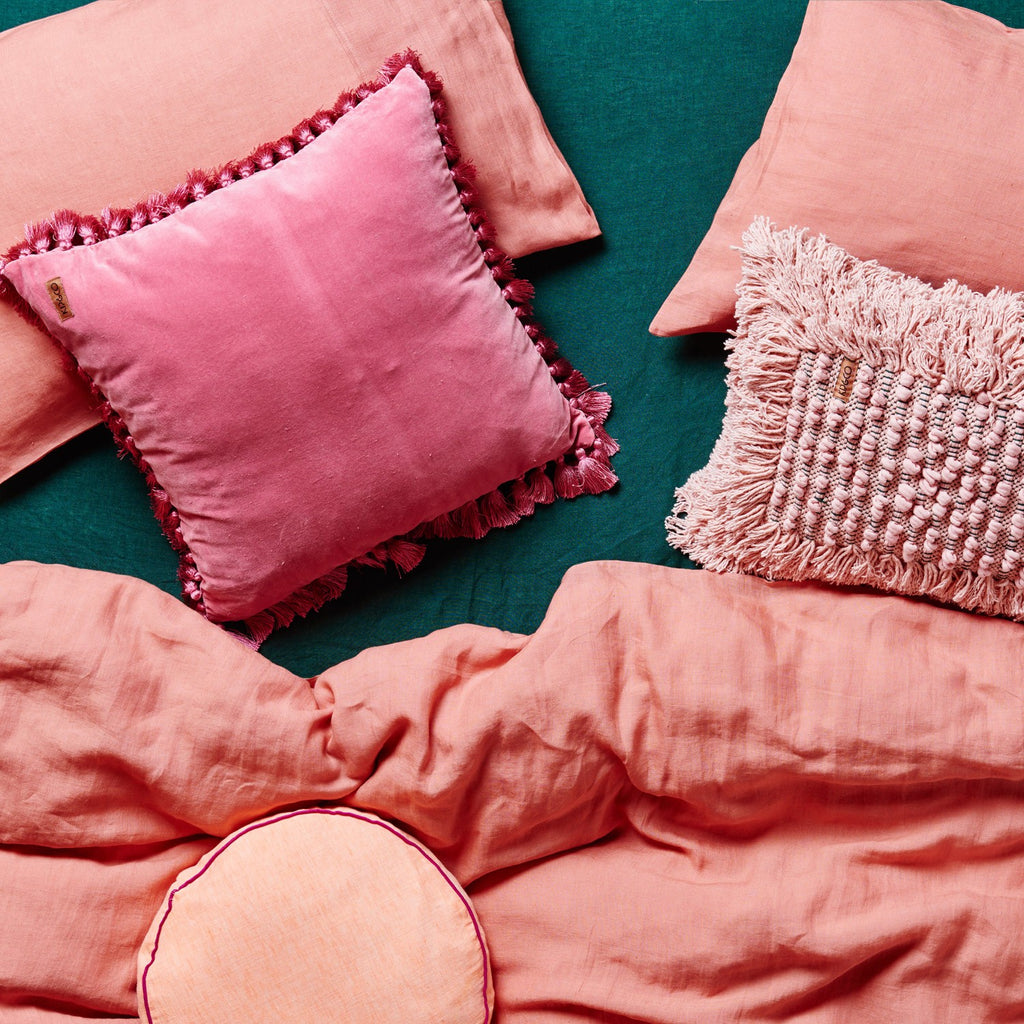 Kip & Co Coral Linen Pillow Case 2P Set