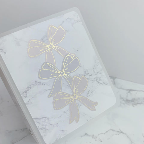 Mini Sticker Album - Foiled Bow Stack