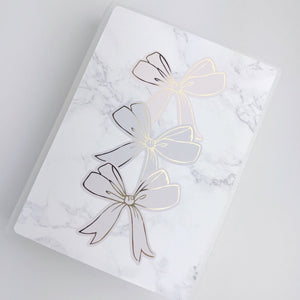 Large Size Sticker Album - Foiled Bow Stack