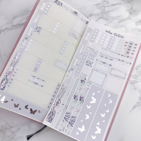 Lavender Foiled Hobonichi Weeks Kit