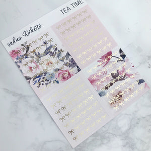 Tea Time Foiled Weekly Kit