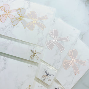 Regular Size Sticker Album - Foiled Bow Stack