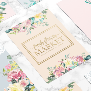 Flower Market Digital Dashboard Set