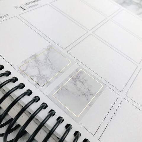 Foiled Half Boxes | Marble Collection