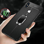 Soft Silicone Leather Case With Magnetic Holder For iphone 6 6S 7 8 Plus X XS MAX XR