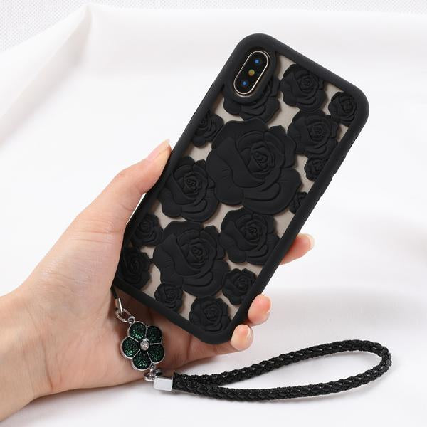 3D Hollow Rose Soft Case for iPhone