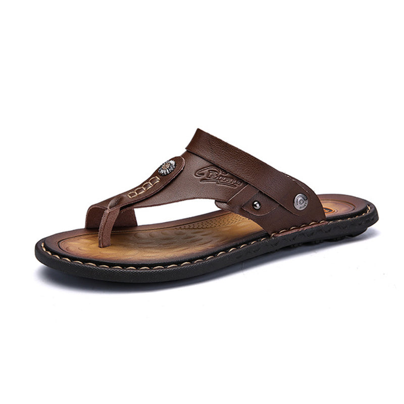 Leather Casual Slippers