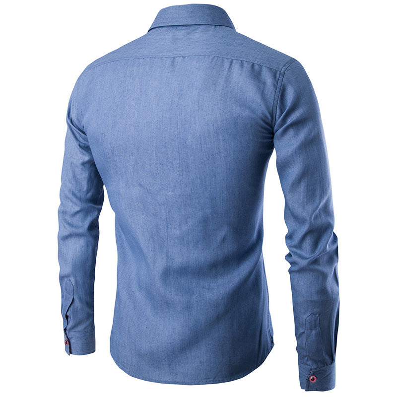 Men Long Sleeve Slim Casual Shirts