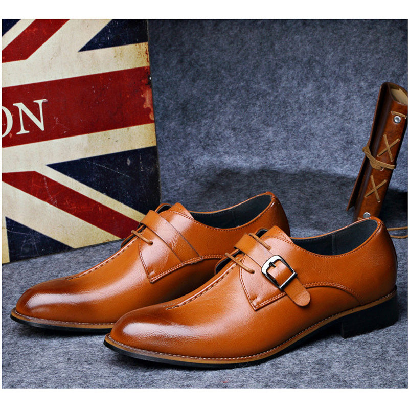 Men Business Leather Classic Oxfords Shoes