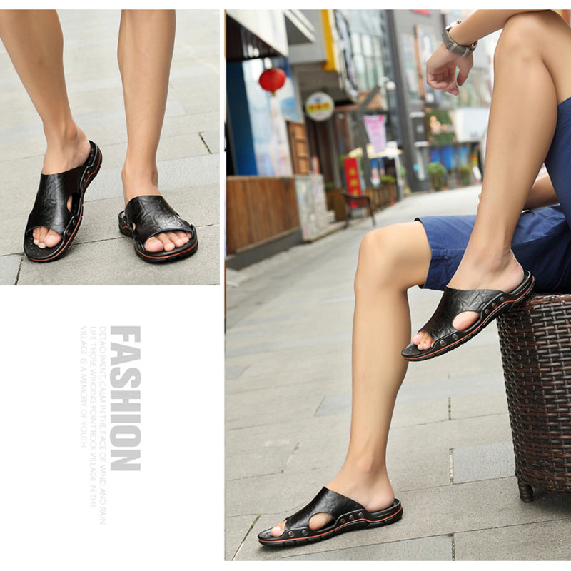 Casual cow leather sandals