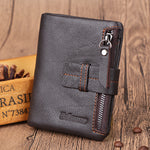Men Zipper Short Wallet Card Coin Purses