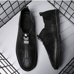 Men's Low-top Slip-On Leather Handmade Shoes