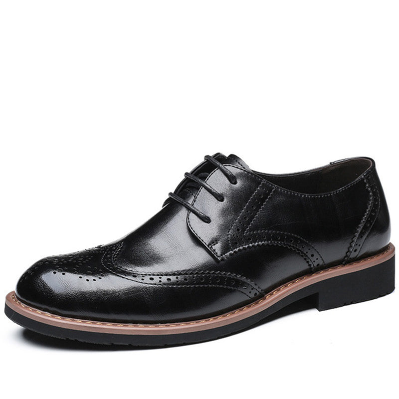 Men Retro Brogue Business Oxfords