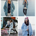 Hooded Jean Two Piece Coat Denim Jacket