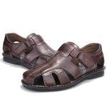 Men Sandals Genuine Leather Shoes