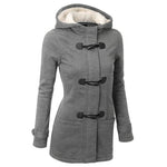 Women Overcoat Hooded Coat