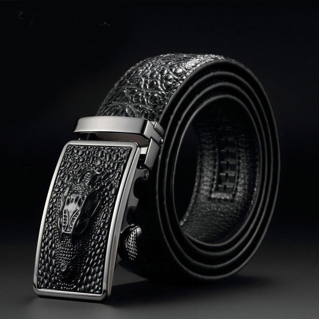 Luxury Crocodile Automatic Buckle Belts