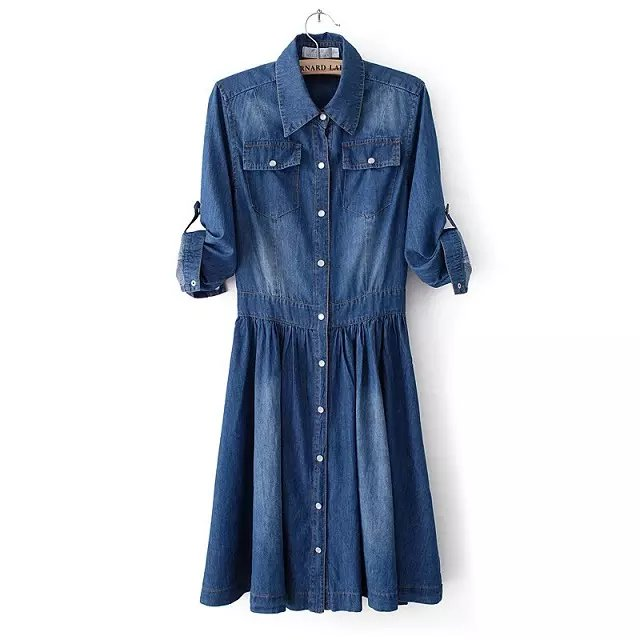 Ladies Clothes Denim Casual Dresses
