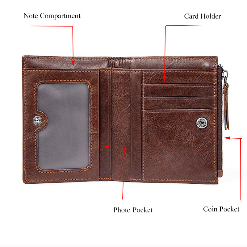 Men Coin Pocket Card Holder Wallet