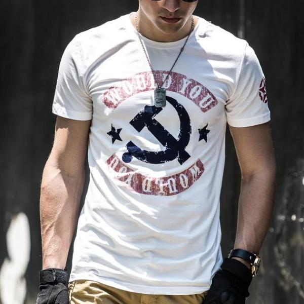 Letter Would You Men T-shirt Summer Tactical Tees Tops Cotton Stretch T Shirts Hip-Hop Homme T8003