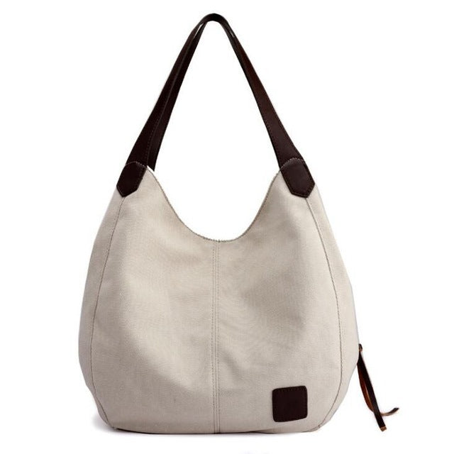 Women's Canvas Shoulder Capacity Leisure Bag