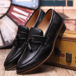 Leather Pointed Toe Casual Shoes
