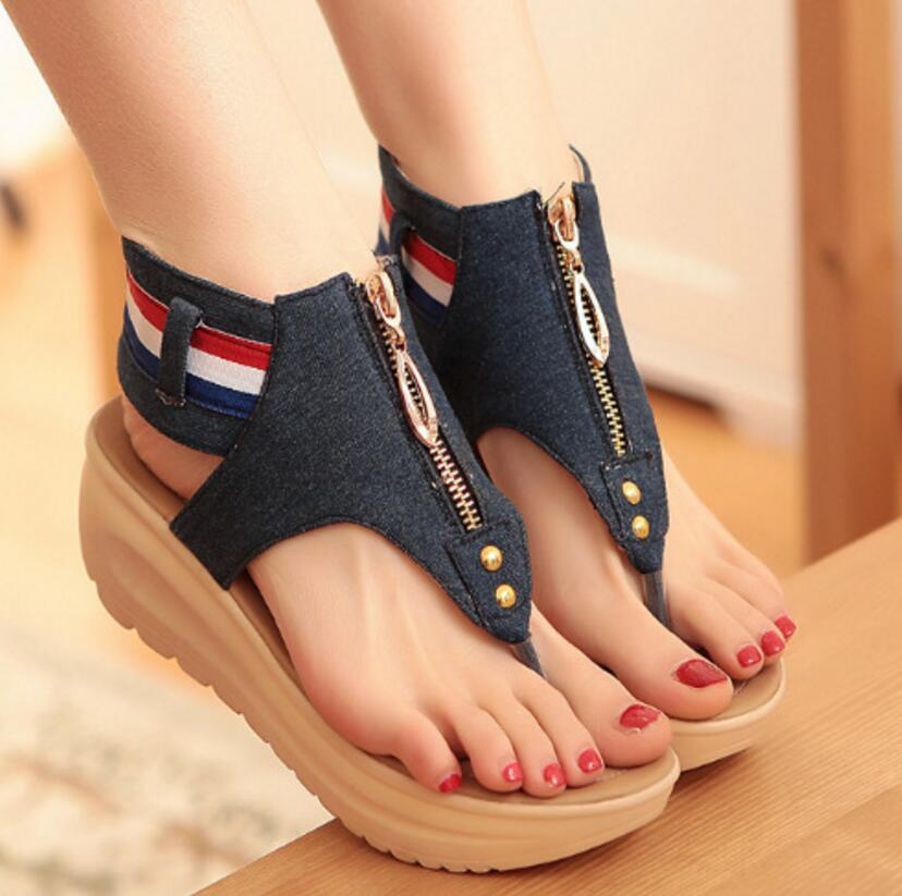 Woman Sandals Denim Casual Shoes
