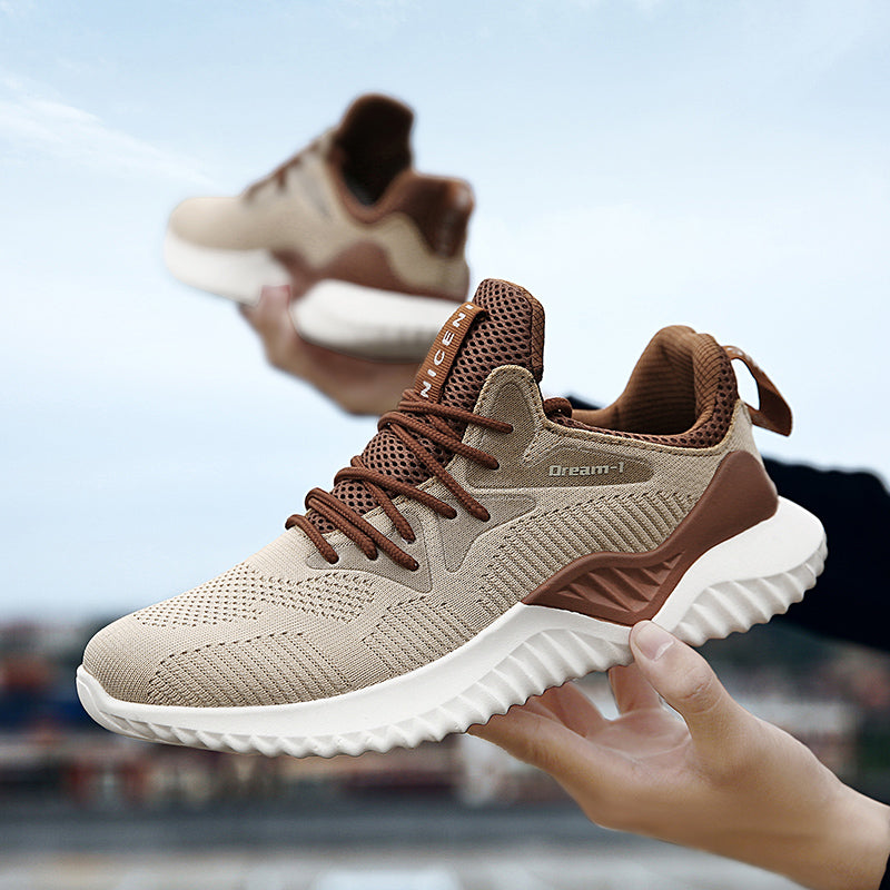 Outdoors male Fitness Athletic Sport walking jogging footwear Running Shoes for man adults Breathable Mesh four seasons Sneakers